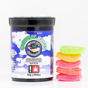 Carefree Jellies Solventless Hash Rosin Edibles | Green Box